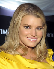 Jessica Simpson wore a sheer, pale pink lipstick topped with lots of gloss at the 'Time'/'CNN'/'People'/'Fortune' 2010 White House Correspondents' dinner pre-party.