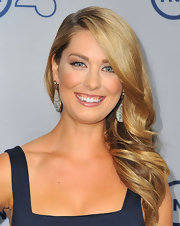 Briga's blonde side swept curls added instant glamor to her red carpet beauty look.