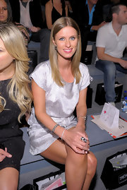 Nicky Hilton attended the Charlotte Ronson Spring 2011 Fashion Show wearing an 18 karat white gold  Spike bracelet.
