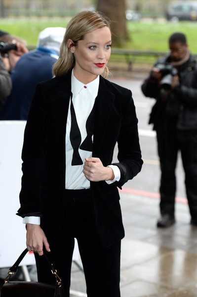More Pics of Laura Whitmore Leather Purse (1 of 2) - Evening Bags Lookbook - StyleBistro [suit,clothing,fashion,street fashion,formal wear,blazer,outerwear,pantsuit,beauty,hairstyle,red carpet arrivals,laura whitmore,tric awards,england,london,the grosvenor house hotel]