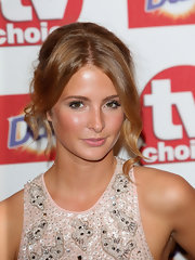 Millie Mackintosh finished her fresh and chic outfit with her locks pinned up during the TV Choice awards held at The Dorchester in London.