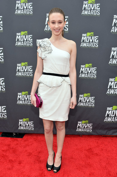 Taissa Farmiga One Shoulder Dress
