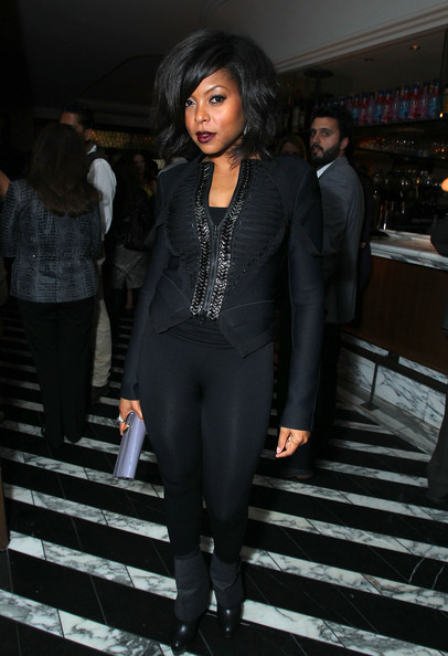 Taraji P. Henson Blazer [clothing,suit,fashion,formal wear,black hair,pantsuit,tights,outerwear,tuxedo,fashion design,taraji p. henson,miss,host,california,los angeles,cecconis restaurant,hollywood foreign press association,instyle,miss golden globes party]