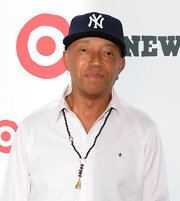 Russel showed off his love of New York with a Yankees hat while attending the opening of Target in East Harlem.