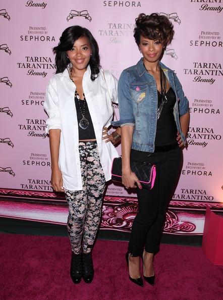 More Pics of Vanessa Simmons Quilted Clutch (1 of 4) - Vanessa Simmons Lookbook - StyleBistro [tarina tarantino beauty,cosmetics collection,clothing,fashion,carpet,red carpet,pink,fashion design,event,outerwear,flooring,pantsuit,actresses,tarina tarantino,vanessa simmons,angela,tarina tarantino launches,california,sephora,launch]