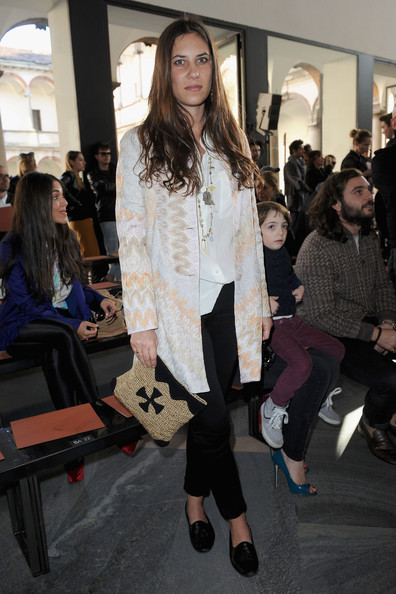 Tatiana Santo Domingo Printed Clutch
