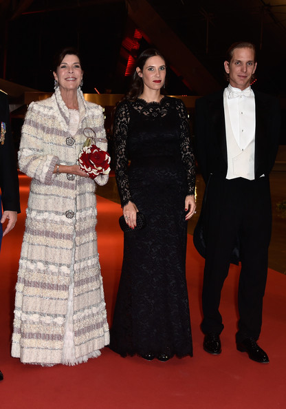 Tatiana Santo Domingo Lace Dress [carpet,event,red carpet,fashion,flooring,dress,premiere,formal wear,ceremony,fashion design,caroline of hanover,andrea casiraghi,tatiana santo domingo,l-r,monaco,grimaldi forum,monaco national day gala]