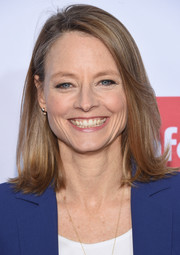 Jodie Foster wore her hair in a simple flippy style at the 'Taxi Driver' 40th anniversary celebration.