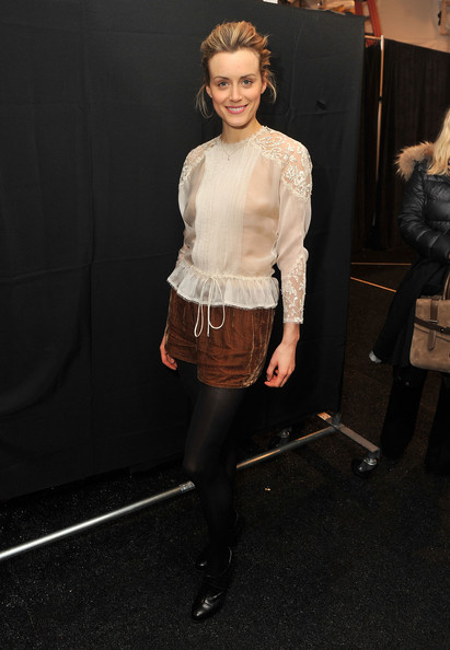 Taylor Schilling Ankle Boots [clothing,fashion,fashion model,tights,leg,footwear,fashion design,waist,dress,shoe,taylor schilling,jenny packham,mercedes-benz fashion week,fashion show,jenny packham - backstage,lincoln center,new york city,the studio]