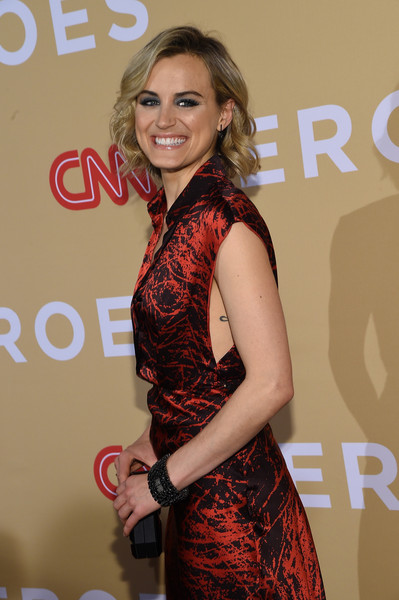 Taylor Schilling Beaded Bracelet [cnn heroes: an all-star tribute,clothing,beauty,shoulder,fashion,hairstyle,premiere,dress,long hair,event,carpet,taylor schilling,new york city,american museum of natural history]