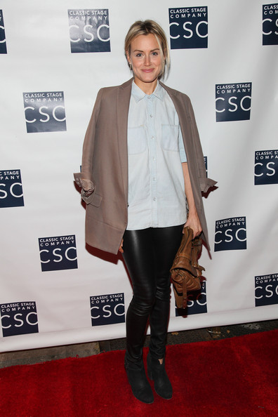 Taylor Schilling Blazer [carpet,red carpet,clothing,fashion,flooring,footwear,outerwear,premiere,riding boot,knee-high boot,ivanov opening night lights back on celebration,ivanov opening night lights back on celebration at classic stage company,new york city,taylor schilling]
