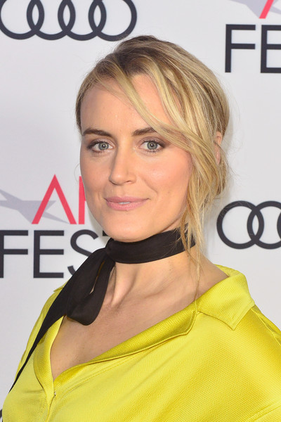 Taylor Schilling Loose Bun [hair,face,hairstyle,blond,eyebrow,skin,beauty,chin,hair coloring,yellow,filmmakers,taylor schilling,california,hollywood,tcl chinese 6 theatres,afi fest,festival filmmakers 3,audi,audi - festival]