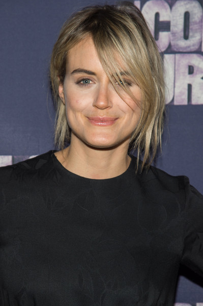 Taylor Schilling Messy Updo [the color purple,hair,face,hairstyle,blond,eyebrow,chin,layered hair,bangs,long hair,brown hair,taylor schilling,curtain call,new york city,the bernard b. jacobs theatre,broadway,broadway opening night - arrivals,opening night]