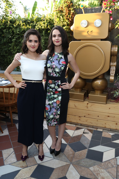 Vanessa Marano looked effortlessly stylish in a paneled floral dress by Ted Baker during the brand's A/W '17 launch.