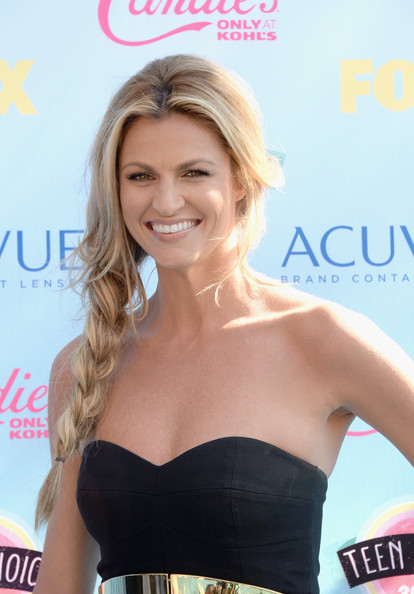 More Pics of Erin Andrews Long Braided Hairstyle (1 of 2) - Long Braided Hairstyle Lookbook - StyleBistro