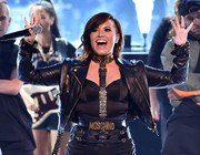 Demi Lovato gave us bondage vibes with this Moschino harness at the 2014 Teen Choice Awards.