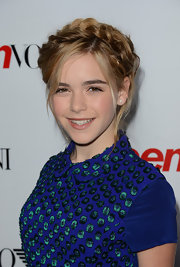 Kiernan finished off her sweet look with these Heidi braids at the Young Hollywood Party.
