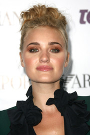 Amanda Michalka topped off her look with a rocker-glam messy high bun when she attended the Teen Vogue Young Hollywood party.