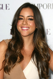 Chloe Bennet looked oh-so-pretty with her cascading waves at the Teen Vogue Young Hollywood party.