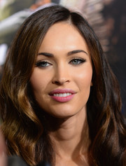 Megan Fox swiped on some pink lipstick for a fresh and sweet beauty look during the 'Teenage Mutant Ninja Turtles' premiere.