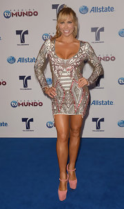 Aylin Mujica's beaded cocktail dress was made for parties. The intricate bead patterning was perfection.