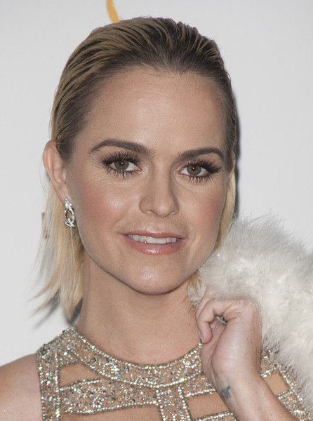 Taryn Manning wore her hair in a wet-look style at the Television Academy Emmy nominees celebration.
