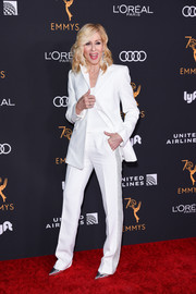 Judith Light looked cool in a white suit with gray side stripes at the Television Academy Emmy nominees party.