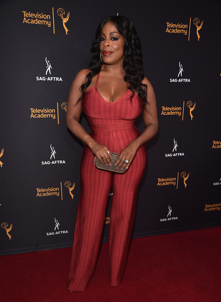 Niecy Nash could barely control her curves in this red bandage jumpsuit by House of CB during the Television Academy and SAG-AFTRA Dynamic and Diverse celebration!