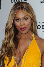 Laverne Cox wore her signature long center-parted waves during the Television Industry Advocacy Awards.