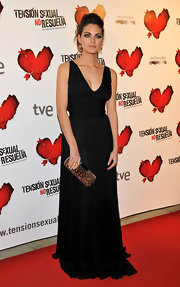 Amaia Salamanca donned a simple yet elegant black gown at the 'Tension Sexual No Resuelta' premiere.