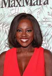 Viola Davis showed off a perfectly styled bob at the Women in Film pre-Oscar cocktail party.