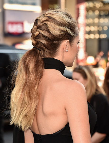 Teresa Palmer French Braid [lights out,hair,hairstyle,beauty,long hair,blond,brown hair,fashion model,girl,ponytail,chignon,arrivals,teresa palmer,california,hollywood,tcl chinese theatre,new line cinema,premiere,premiere]