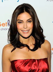 "Actress Teri Hatcher showed off her radiant locks while attending the launch of ""Gethatched.com""."