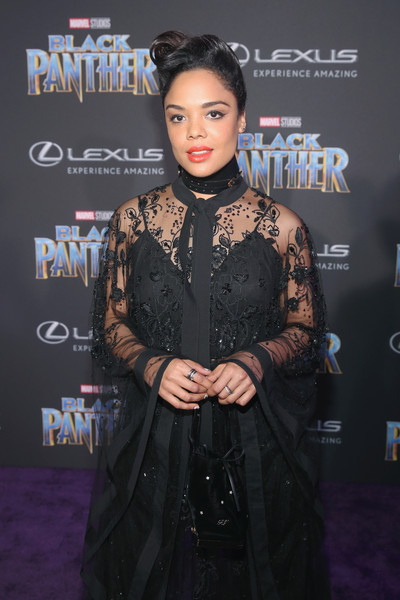 Tessa Thompson Velvet Bag