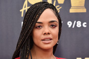 Tessa Thompson Long Braided Hairstyle