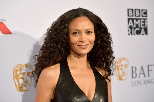 Thandie Newton Long Curls [hair,hairstyle,beauty,long hair,ringlet,carpet,black hair,brown hair,premiere,lace wig,arrivals,thandie newton,los angeles,four seasons hotel,california,beverly hills,bafta,tea party]