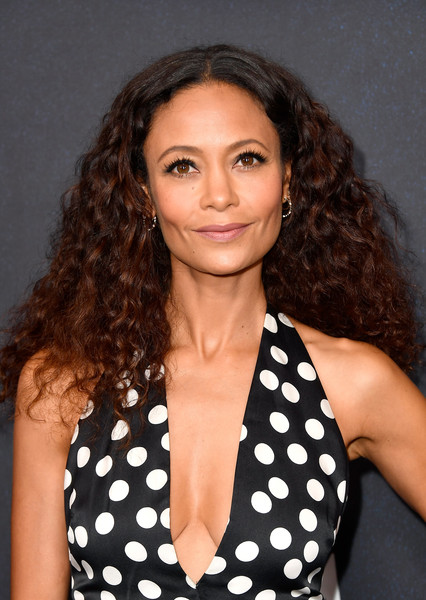 Thandiwe Newton Long Curls [hair,hairstyle,eyebrow,polka dot,beauty,long hair,ringlet,lip,brown hair,design,arrivals,thandie newton,power of women,variety,hair,hairstyle,eyebrow,hair,los angeles,westworld,thandiwe newton,westworld,2018,maeve millay,westworld - season 2,2018 toronto international film festival,celebrity,actor,solo: a star wars story]