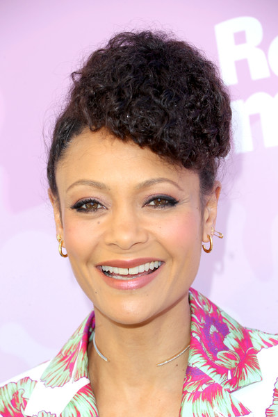 Thandiwe Newton Curly Updo [hair,face,hairstyle,eyebrow,black hair,forehead,lip,beauty,chin,smile,nominees,thandie newton,arrivals,variety,hair,motion picture television fund,hair,hairstyle,celebratory brunch event,celebratory brunch event for awards nominees,black hair,hair coloring,pixie cut,brown hair,layered hair,lock of hair,long hair,hair,long hair / m,hairstyle]