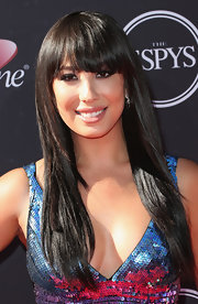 Cheryl Burke opted for a smooth and straight 'do that was totally '70s chic!