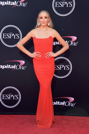 Nastia Liukin was red-hot in a strapless red corset dress by Zachary The Label at the 2017 ESPYs.