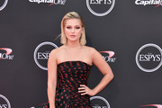 Olivia Holt Strapless Dress