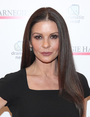 Catherine Zeta-Jones showed off a perfect straight hairstyle at the Children's Monologues event.