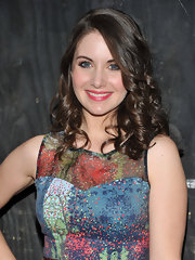 Alison Brie topped off her look with ultra-feminine corkscrew curls at the premiere of 'The Decision.'