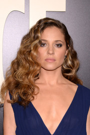 Margarita Levieva worked a voluminous curly hairstyle at the New York premiere of 'The Deuce.'