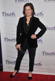 Marcia Gay Harden finished her look at the Face of Tisch gala with a pair of bow-detailed cap toe pumps.