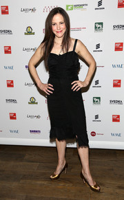 Mary-Louise Parker chose a little black dress with an asymmetrical hem for the Inaugural Hope North Gala.