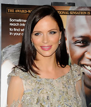 Georgina Chapman swept on vivid rosy pink lipstick with a subtle pearlescent finish for a screening of 'The Intouchables.'