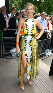 DJ Jo was blooming at the Ivor Novello Awards in a botanical print gown.