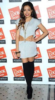 Dionne Bromfield attended The LOOK Show in an edgy cutout shirtdress.