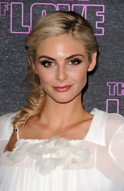 Tamsin Egerton had her blonde locks braided for the 'Look of Love' premiere.